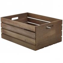 Wooden Crate Dark Rustic Finish 41 x 30 x 18cm