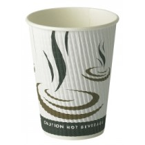 Weave Wrap Ripple Disposable Paper Coffee Cup 12oz / 340ml
