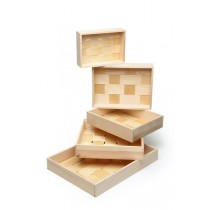 Small Wooden Trays 200x120x45mm