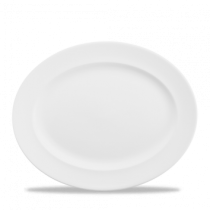 Churchill Whiteware Classic Oval Rimmed Dishes 36.5cm