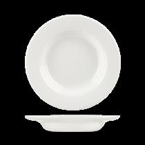 Churchill Whiteware Classic Rimmed Soup Bowls 23cm