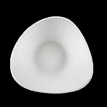 Churchill Bamboo Triangle Shallow Bowl White 21 x 21cm