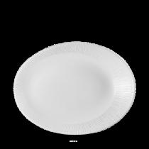 Churchill Bamboo Oval Plate White 25 x 19.4 x 3.2cm