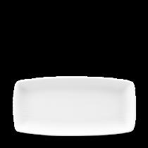 Churchill Bamboo Oblong Plate White 29.5 x 15cm