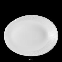 Churchill Bamboo Oval Plate White 29 x 22.7 x 3.8cm