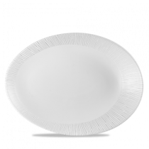 Churchill Bamboo Oval Plate White 34.6 x 26.3 x 5cm