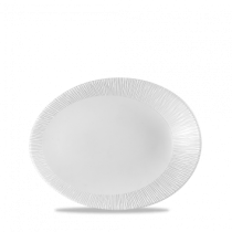 Churchill Bamboo Oval Plate White 19.5 x 15 x 2.5cm