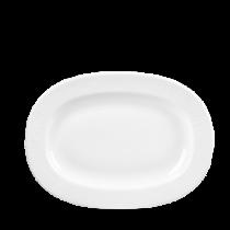 Churchill Bamboo Rimmed Oval Dish White 28cm