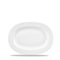 Churchill Bamboo Rimmed Oval Dish White 20.3cm