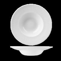 Churchill Bamboo Wide Rim Bowl White 24cm