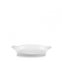 Churchill Cookware Oval Eared Dish White 23.2 x 12.5cm