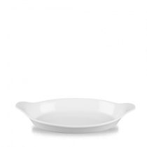 Churchill Cookware Oval Eared Dish White 34.5 x 19cm