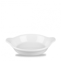 Churchill Cookware Round Eared Dish White 17.5 x 21.5cm