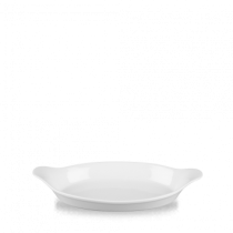 Churchill Cookware Medium Oval Eared Dish White 28 x 15.6cm