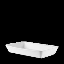 Churchill Counter Serve Rectangular Baking Tray White 38 x 25 x 6.2cm