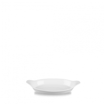 Churchill Cookware Small Oval Eared Dish White 20.5 x 11.3cm