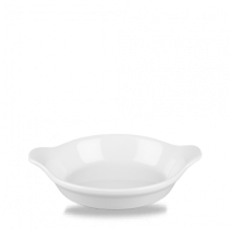 Churchill Cookware Small Round Eared Dish White 15 x 18cm
