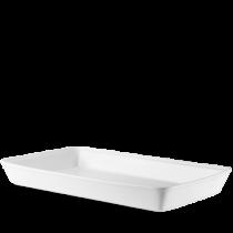 Churchill Counter Serve Rectangular Baking Tray White 53 x 32.5 x 6.2cm