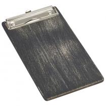 Wooden Menu Clipboard Black 13 x 24.5 x 0.6cm
