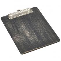 Wooden Menu Clipboard A5 Black 18.5 x 24.5 x 0.6cm