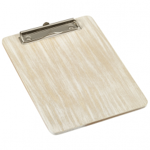 Wooden Menu Clipboard A5 White 18.5 x 24.5 x 0.6cm