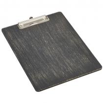 Wooden Menu Clipboard A4 Black 24 x 32 x 0.6cm