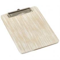 Wooden Menu Clipboard A4 White 24 x 32 x 0.6cm
