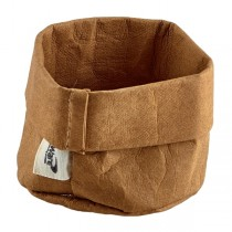 Brown Washable Paper Bag 7 x 6cm