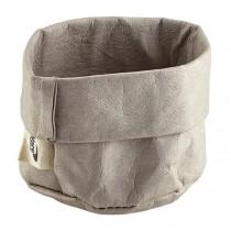 Grey Washable Paper Bag 7 x 6cm