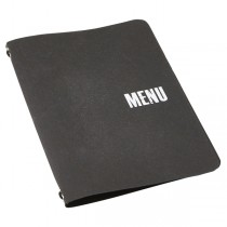 Washable Paper Menu Holder A5 Black
