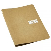 Washable Paper Menu Holder A4 Brown