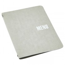 Washable Paper Menu Holder A4 Grey