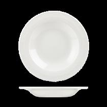Churchill Chateau Rimmed Soup Bowls White 23cm