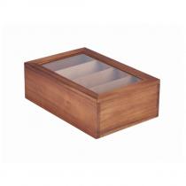 Acacia Wood Tea Box 30 x 20 x 10cm