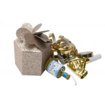Shiny Gold Sparkle Party Box