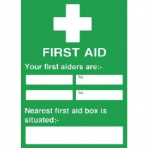 First Aiders / Nearest First Aid Box Sign