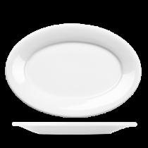 Churchill Art de Cuisine Menu Porcelain Oval Plate 30.5cm