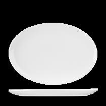 Churchill Art de Cuisine Menu Porcelain Oval Coupe Plate 31cm