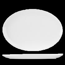 Churchill Art de Cuisine Menu Porcelain Oval Coupe Plate 37cm