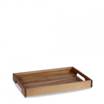 Churchill Alchemy Buffetscape Solid Base Handled Tray 39.7 x 25.8cm