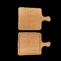 Art de Cuisine Rustic Oak Square Handled Board