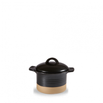 Churchill Art de Cuisine Igneous Black/Naural Cocotte and Lid 14 x 7cm