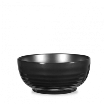 Churchill Art de Cuisine Black Glaze Ripple Bowl 218cl 74oz