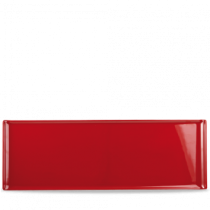 Churchill Alchemy Rectangular Red Melamine Buffet Tray