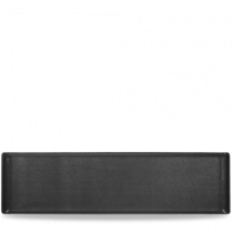 Churchill Alchemy Rectangular Black Melamine Buffet Tray 56 x 15.3cm