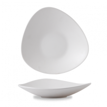 Churchill Alchemy Lotus Melamine White Shallow Bowl