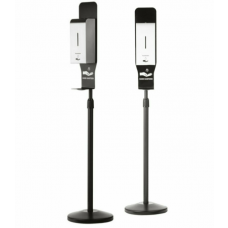 Floor Standing Touch-Free Automatic Stainless Steel Hand Sanitiser with Black Stand