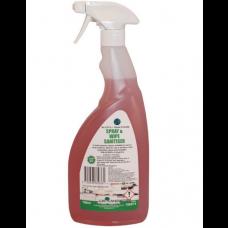 Spray And Wipe Sanitiser 750ml