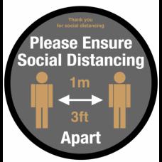 Please Ensure Social Distancing Floor Graphic 400mm