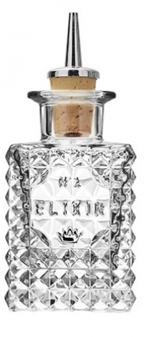 Square Elixir No.1 Dash Bottles 3.5oz / 10cl